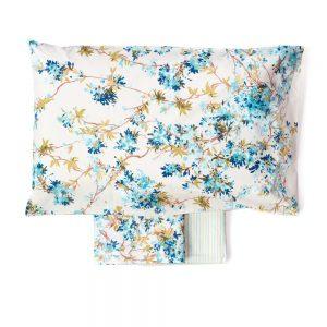 completo lenzuola celine di zucchi con fiori azzurri
