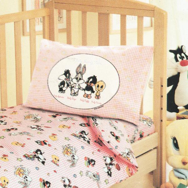 Bassetti Looney Tunes Lenzuola Copriletto.Bassetti Completo Copripiumone Per Lettino Looney Tunes Di