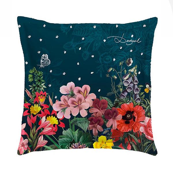 Federe Cuscini Desigual.Desigual Federa Dark Floral 65x65cm Di Stefano Biancheria