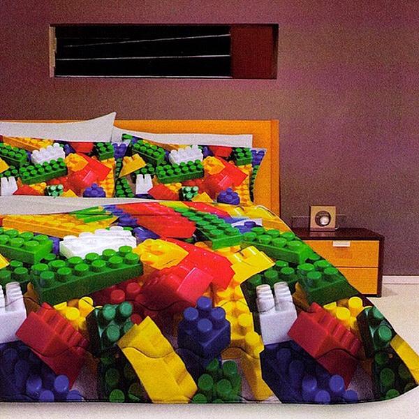 Copripiumino Violetta Una Piazza E Mezza.Mae Trapunta Toys Stile Lego Matrimoniale Di Stefano