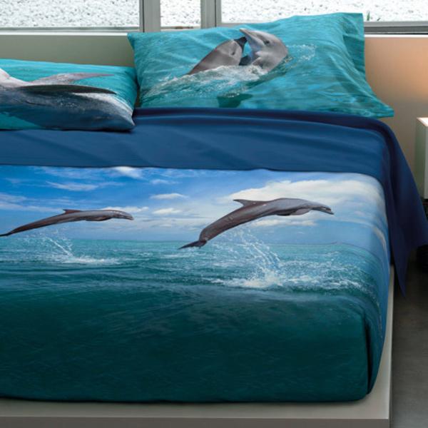 Bassetti Completo Letto Delfini Dancing Dolphins Di Stefano Biancheria Per La Casa E Tende