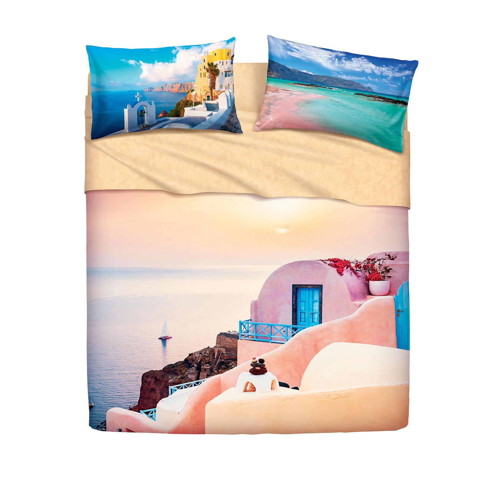 Bassetti completo letto greece santorini imagine di stefano biancheria per la casa e tende - Biancheria letto bassetti ...