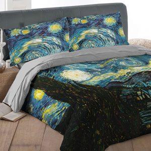 Copripiumino Van Gogh Notte Stellata Tessitura Randi