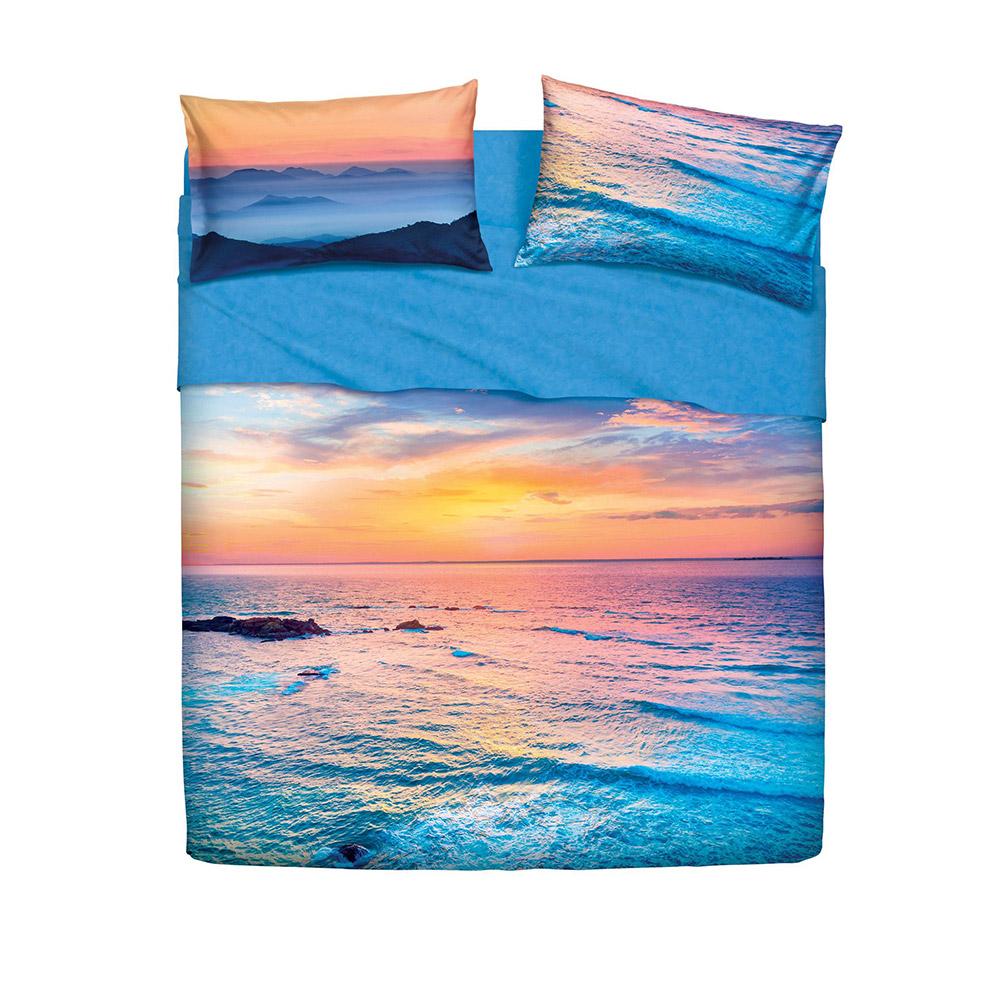 be4f3b1e8c Completo letto Shade Color Bassetti Imagine | Lenzuola tramonto sul mare