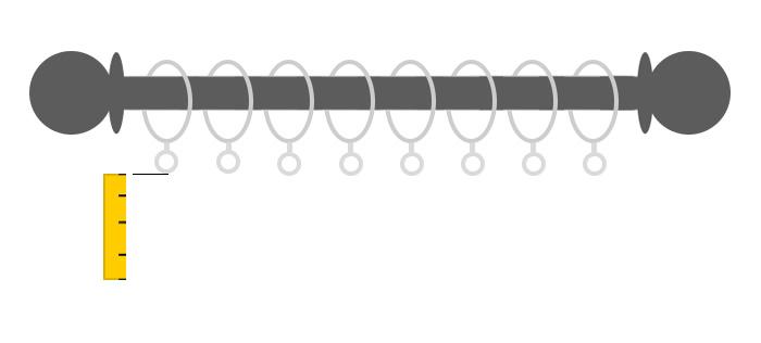 misurare altezza bastone anelli