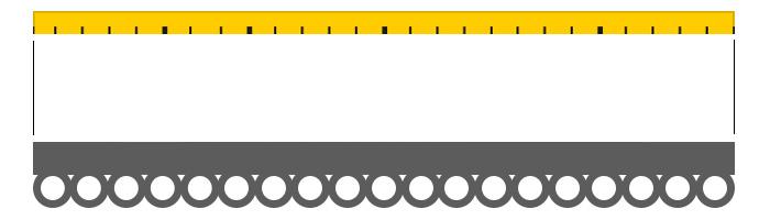misurare larghezza bastone