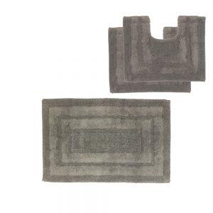 tris tappeto bagno grigio scuro