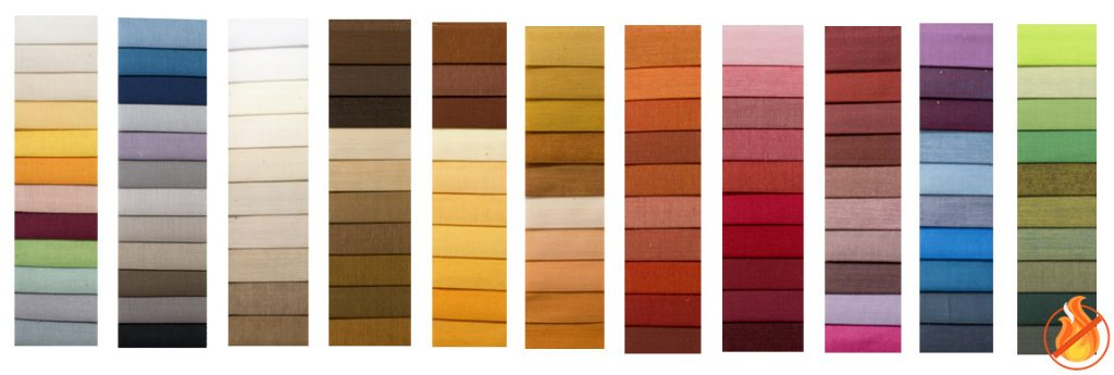 colori tende ignifughe tinta unita