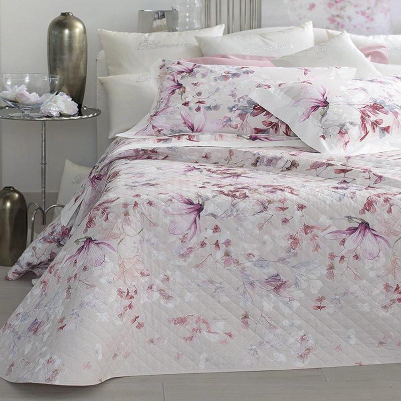 Blumarine Biancheria Da Letto.Blumarine Home Copriletto Trapuntato Magnolia