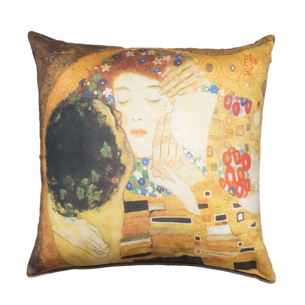 Cuscini D Autore.Cuscino Klimt Il Bacio Letto D Autore By Tessitura Randi
