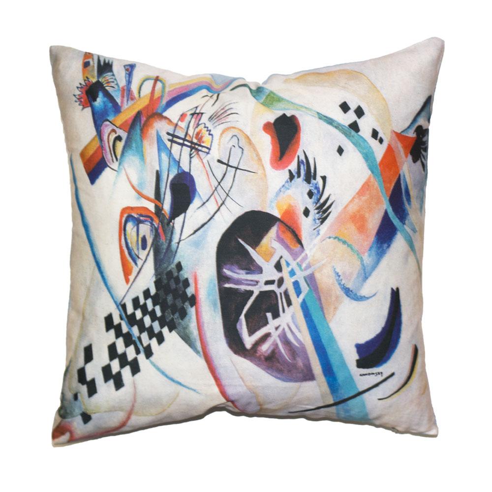 Cuscini D Autore.Cuscino Composizione 224 Kandinsky Letto D Autore By Tessitura Randi