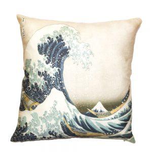 cuscino la grande onda di hokusai