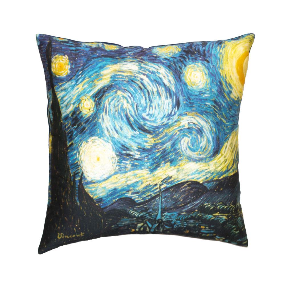 Cuscini D Autore.Cuscino Van Gogh La Notte Stellata Linea Letto D Autore