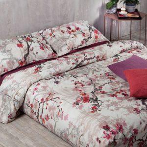 lenzuolo copriletto tessitura randi fiori di ciliegio