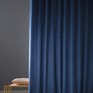 tessuto per tenda su misura in lino blu Reveg