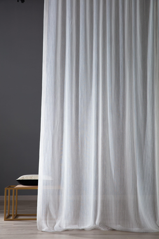Tende E Tendaggi Milano tessuto per tende bianco rigato brad   tessuti e stoffe per