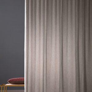 tessuto per tenda misto lino grigio rosato