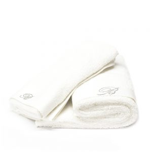 asciugamano bianco blumarine home benessere