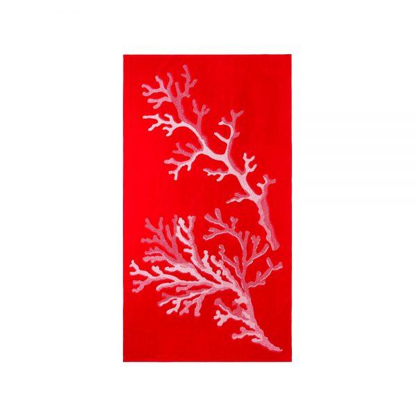 telo mare azzorre rosso corallo riviera home