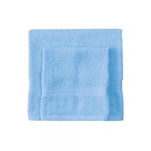 asciugamano con ospite bassetti time azzurro