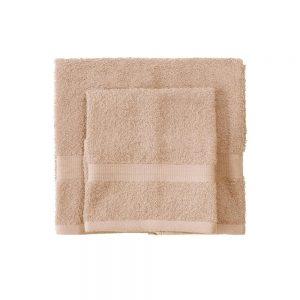 asciugamano con ospite bassetti time beige