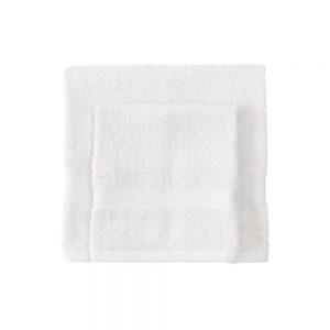 asciugamano con ospite bassetti time bianco