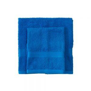 asciugamano con ospite bassetti time blu