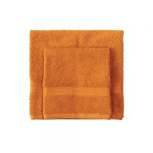 asciugamano con ospite bassetti time arancione