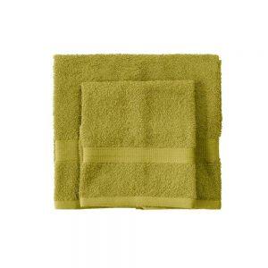 asciugamano con ospite bassetti time verde