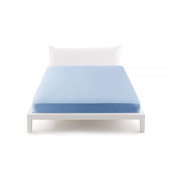 lenzuola matrimoniali con angoli sganciabili perfetto azzurro