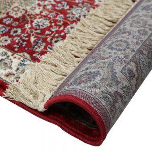 tappeto rosso orientale classico dettaglio