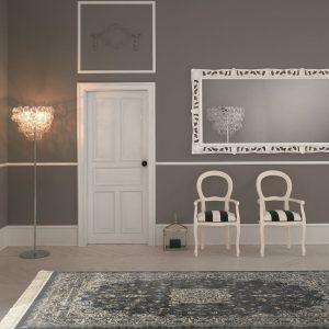 tappeto classico orientale grigio
