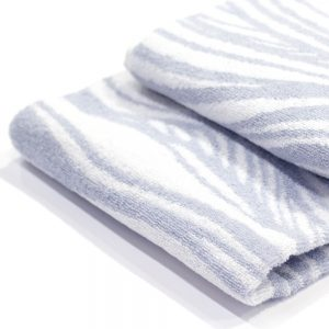 asciugamano zucchi easy chic onde grigio dettaglio