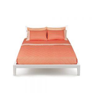 completo letto una piazza e mezza arancione linea minimal bassetti