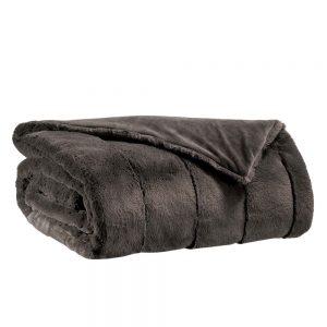 coperta ecopelliccia grigio asfalto kinta vivaraise