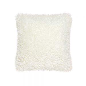 cuscino pelliccia agnellata bianco