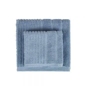 asciugamano celeste linea contour di zucchi