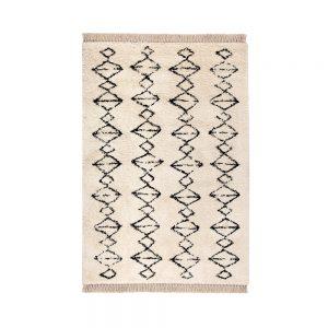 trr tappeto zagora berbero bianco e nero
