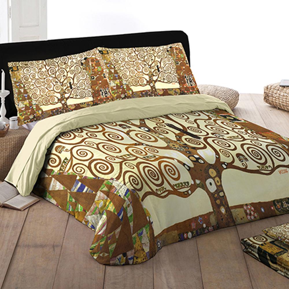 Parure Copripiumino Matrimoniale Klimt.Tessitura Randi Parure Lenzuola Matrimoniale Klimt L Albero Della Vita