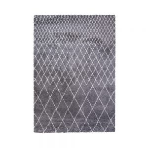 tappeto agadir grigio in stile berbero a rombi