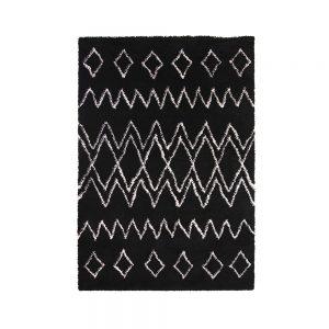tappeto berbero a rombi nero e bianco oran di vivaraise
