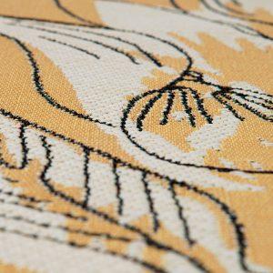 tappeto da esterno a fiori giallo porto di vivaraise dettaglio