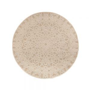 tappeto da esterno rotondo beige adi di vivaraise beige