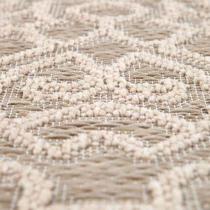 tappeto da esterno rotondo beige adi di vivaraise beige dettaglio