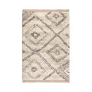 tappeto leoti di vivaraise in stile berbero bianco e nero