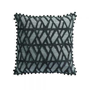 cuscino con applicazioni geometriche aman
