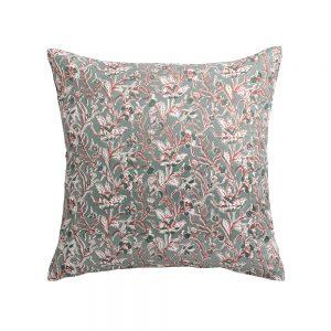 cuscino arredo a fiori rosaline verdino