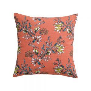 cuscino a fiori corallo porto vivaraise