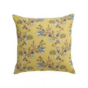 cuscino a fiori ocra porto vivaraise