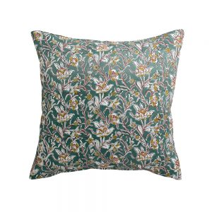 cuscino arredo a fiori rosaline verde